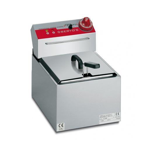 Friggitrice elettrica 1 vasca 5lt da banco Mod. snack