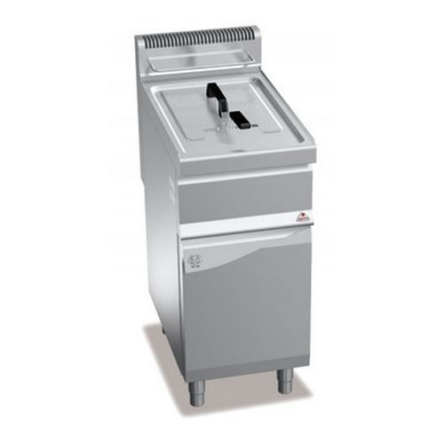 Friggitrice a gas 1 vasca 15lt con mobile serie70