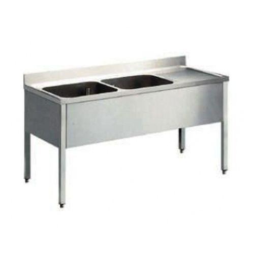 Lavello inox 2 vasche con gocciolatoio a dx 160x70 - Chef Discount ...