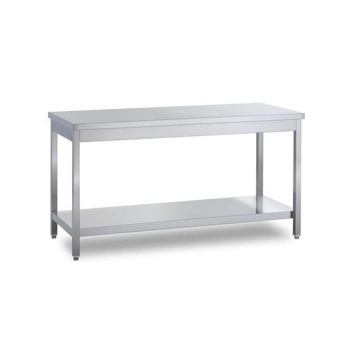 Tavolo da lavoro con ripiano inox 100x70