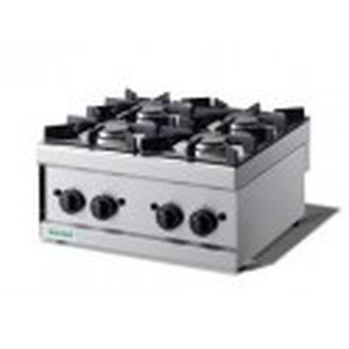 Cucina professionale a gas 4 fuochi da banco 600EKO