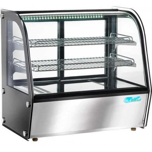 Vetrina calda da banco con led vetri curvi 160lt